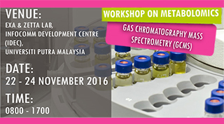 WORKSHOP ON METABOLOMICS GAS CHROMATOGRAPHY MASS SPECTROMETRY (GCMS)