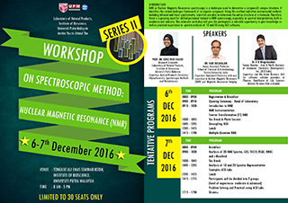 Workshop on Spectroscopic Method: Nuclear Magnetic Resonance (NMR) - Series II
