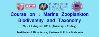 Course on Marine Zooplankton Biodiversity and Taxonomy