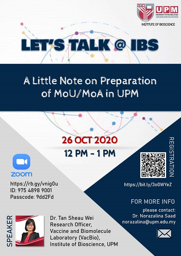 Let's Talk @ IBS : A Little Note on Preparation of MoU/MoA in UPM