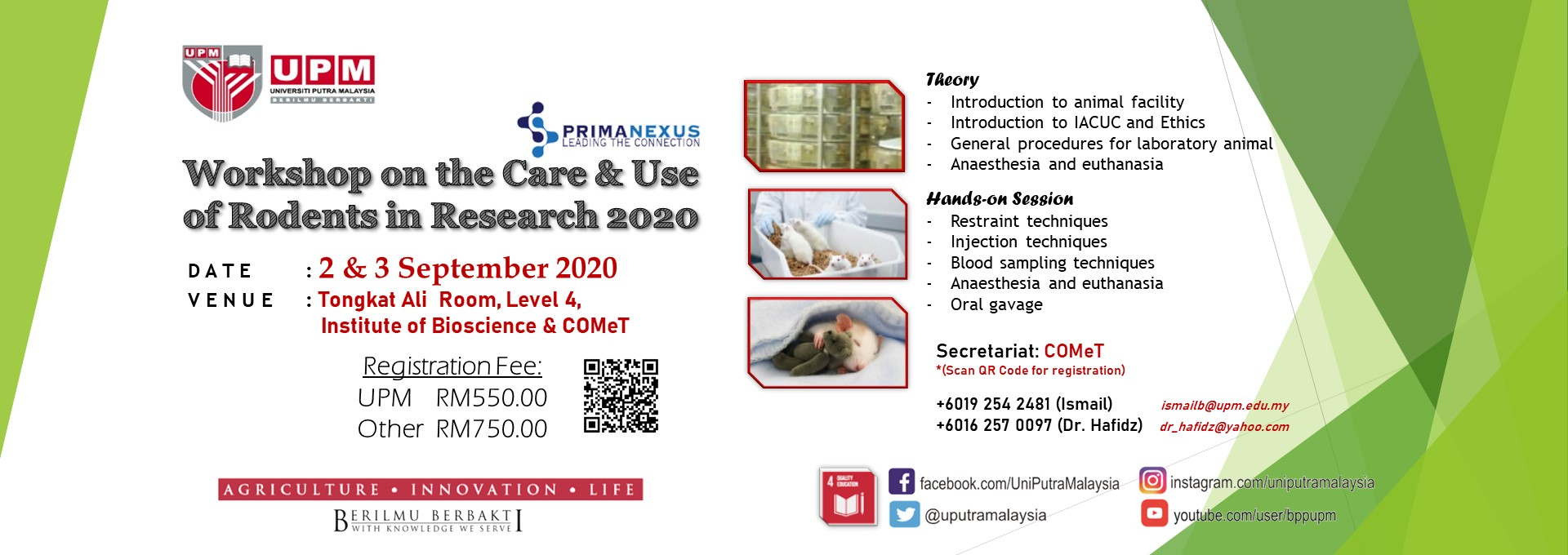 Workshop on The Care & Use Rodents in Research 2020