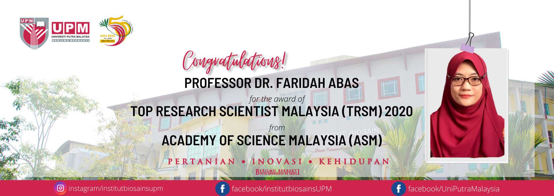 TOP RESEARCH SCIENTIST MALAYSIA 2020